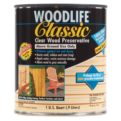 Wolman woodlife classic clear wood preservative 1 qt at - Exterior wood treatment products ...
