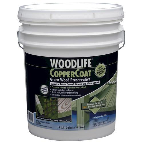 Woodlife Coppercoat Green Wood Preservative 5 Gal