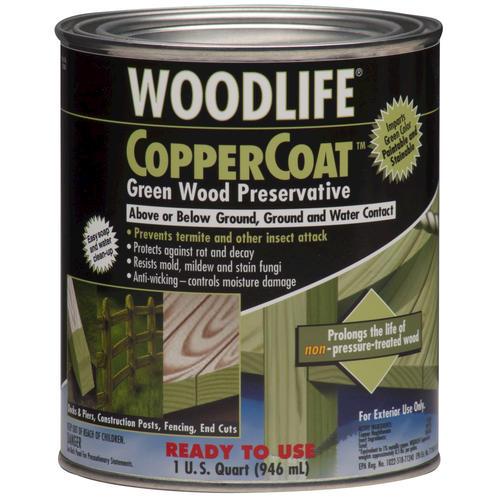 woodlife coppercoat green wood preservative 1 qt at menards