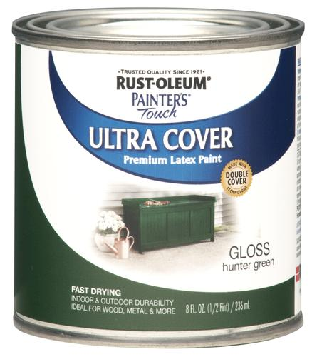 Rust oleum painter 39 s touch gloss hunter green ultra cover paint 1 2 pt at menards - Hunter green exterior paint paint ...