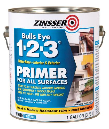 Zinsser bulls eye 1 2 3 water base primer for all surfaces 1 gal at menards - Zinsser exterior paint pict ...