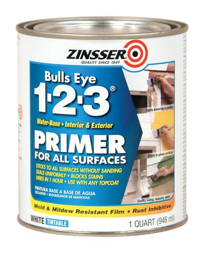 Zinsser bulls eye 1 2 3 water base primer for all surfaces 1 qt at menards - Zinsser exterior paint pict ...