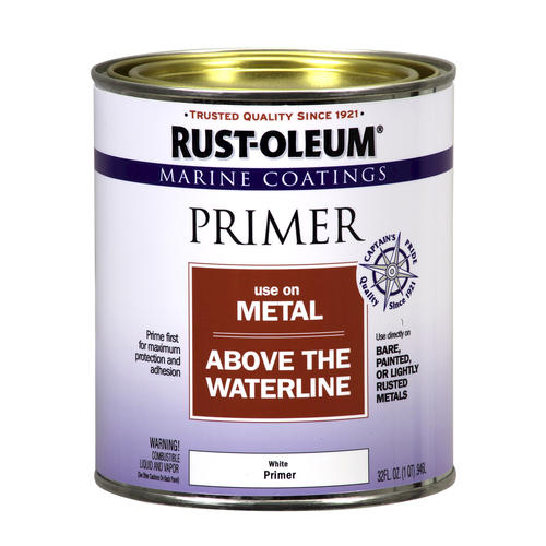 Rust oleum marine coatings above the waterline metal primer 1 qt at menards for Rustoleum exterior metal paint