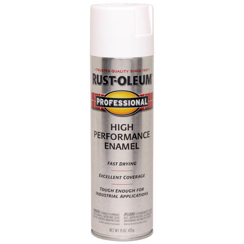 professional white high performance enamel spray 15 oz at menards. Black Bedroom Furniture Sets. Home Design Ideas
