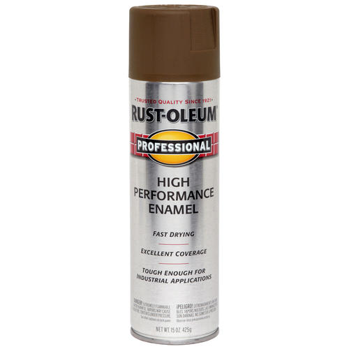 Rust Oleum Professional Flat Brown High Performance Enamel Spray 15 Oz At Menards