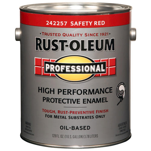 Rust Oleum Pro Safety Red High Performance Enamel For Metal 1 Gal At Menards