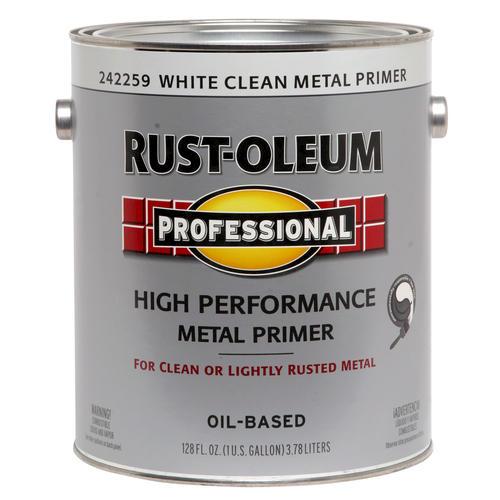 Rust Oleum Professional White High Performance Clean Metal Primer 1 Gal At Menards