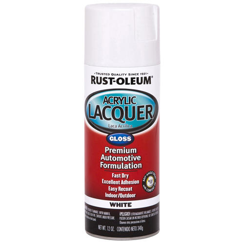 Rust oleum automotive gloss white acrylic lacquer spray for Best car paint shops near me