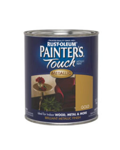 Rust Oleum Painter 39 S Touch Metallic Gold Paint 1 Qt At Menards