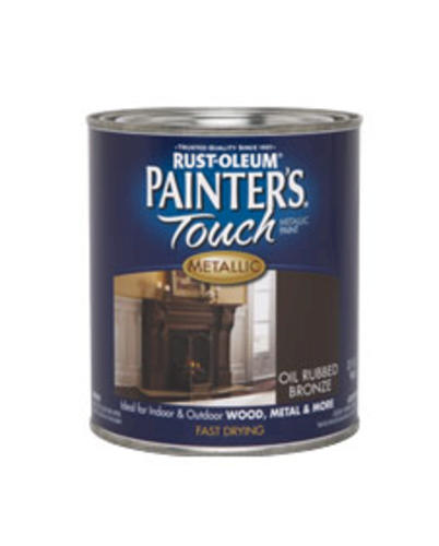 rust oleum painter 39 s touch metallic oil rubbed bronze paint 1 qt. Black Bedroom Furniture Sets. Home Design Ideas