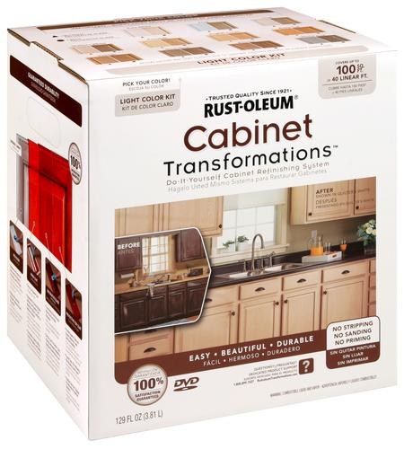 How To Refinish Kitchen Cabinets Yourself: Rust-Oleum® Cabinet Transformations Light Base Refinishing Kit