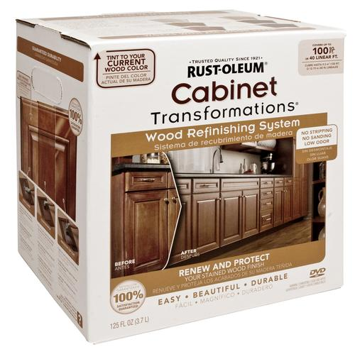 Refinishing Kitchen Cabinets Yourself: Rust-Oleum® Cabinet Transformations Wood Refinishing Kit