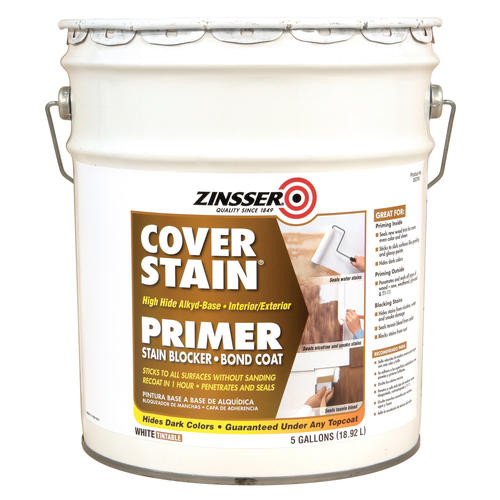 Zinsser cover stain high hide alkyd base primer 5 gal at menards - Zinsser exterior paint pict ...