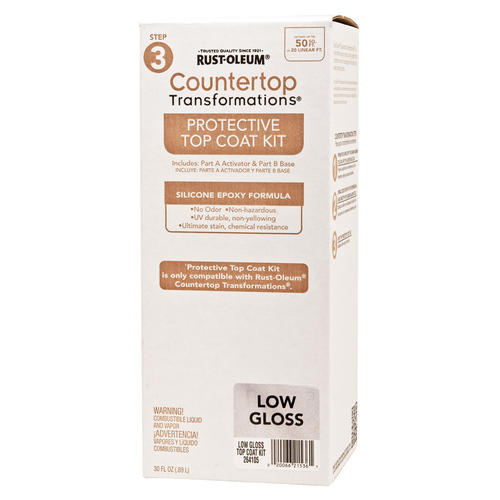 Rustoleum Countertop Paint How Long Between Coats : Rust-Oleum? Countertop Transformations Low-Gloss Protective Top Coat ...