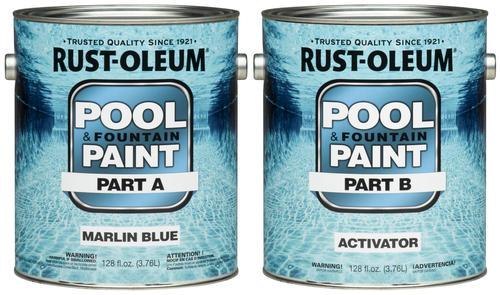 Rust Oleum 174 High Perform Marlin Blue Epoxy Pool