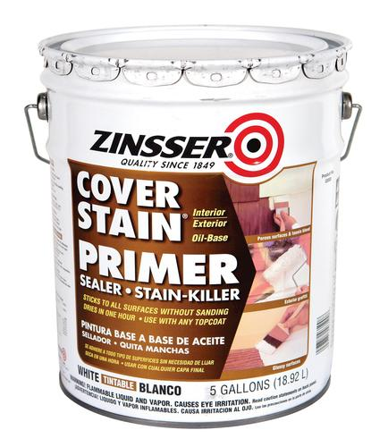 Exterior Paint Coverage Per Gallon: Zinsser® Cover-Stain White Oil-Base Primer