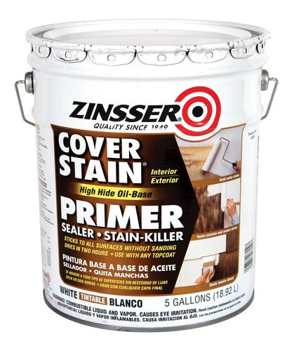Zinsser cover stain white high hide oil base primer 5 gal at menards - Zinsser exterior paint pict ...