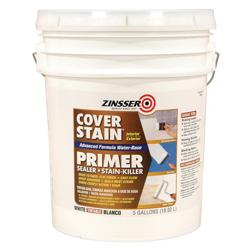 Zinsser cover stain white water base primer 5 gal at menards - Zinsser exterior paint pict ...