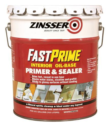 Zinsser fastprime interior oil base primer sealer 5 - Kilz 5 gallon interior oil primer ...