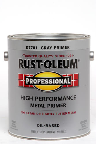 Rust Oleum Pro Gray Low Voc High Performance Metal Primer 1 Gal At Menards