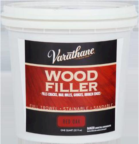 Varathane red oak wood filler 1 qt for Wood floor crack filler
