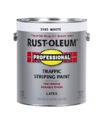 White Traffic Paint : Rust oleum professional white traffic striping paint gal