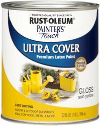 Rust-Oleum® Painter's Touch Gloss Sun Yellow Ultra Cover Paint - 1 qt
