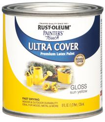 Rust-Oleum® Painter's Touch Gloss Sun Yellow Ultra Cover Paint - 1/2 pt