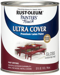 Rust-Oleum® Painter's Touch Gloss Colonial Red Ultra Cover Paint - 1 qt