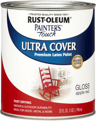 Rust-Oleum® Painter's Touch Gloss Apple Red Ultra Cover Paint - 1 qt