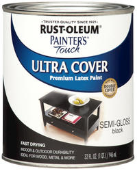 Rust-Oleum® Painter's Touch Semi-Gloss Black Ultra Cover Paint - 1 qt