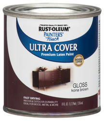 Rust-Oleum® Painter's Touch Gloss Kona Brown Ultra Cover Paint - 1/2 pt