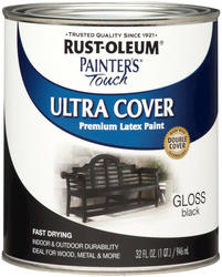 Rust-Oleum® Painter's Touch Gloss Black Ultra Cover Paint - 1 qt
