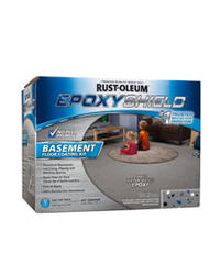 EPOXYShield Gray Basement Floor Coating Kit - 1 gal.