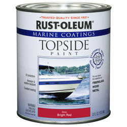 Rust-Oleum® Marine Coatings Bright Red Topside Paint - 1 qt