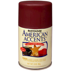 Rust-Oleum® American Accents Satin Colonial Red Craft & Hobby Enamel Spray - 3 oz