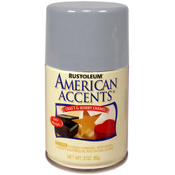 Rust-Oleum® American Accents Metallic Silver Craft & Hobby Enamel Spray - 3 oz
