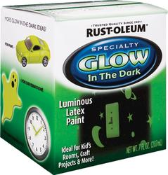 Rust-Oleum® Specialty Glow In The Dark Luminous Latex Paint - 1/2 pt