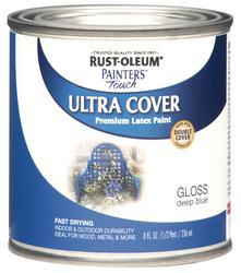Rust-Oleum® Painter's Touch Gloss Deep Blue Premium Latex Paint - 1/2 pt