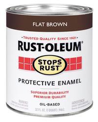 Rust-Oleum® Stops Rust® Flat Brown Protective Enamel - 1 qt