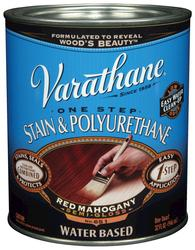 Varathane® One Step Red Mahogany Water-Based Stain & Polyurethane - 1 qt