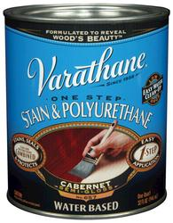 Varathane® One Step Cabernet Water-Based Stain & Polyurethane - 1 qt