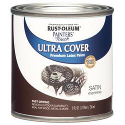 Rust-Oleum® Painter's Touch Satin Espresso Ultra Cover Latex Paint - 1/2 pt
