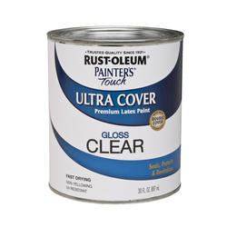 Rust Oleum Painter 39 S Touch Clear Gloss Ultra Cover Latex Paint 1 Qt At Menards