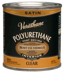Varathane® Satin 275-VOC Oil-Based Interior Polyurethane - 1/2 pt