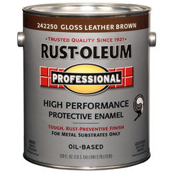 Rust-Oleum® Professional Gloss Leather Brown High-Performance Enamel for Metal - 1 gal.