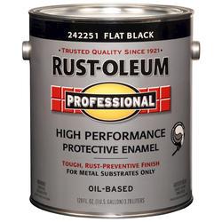 Rust-Oleum® Professional Flat Black High-Performance Enamel for Metal - 1 gal.