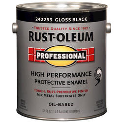 Rust-Oleum® Professional Gloss Black High-Performance Enamel for Metal - 1 gal.