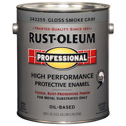 Rust-Oleum® Professional Gloss Smoke Gray High-Performance Enamel for Metal - 1 gal.