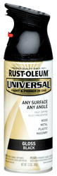 Rust-Oleum® Universal® Gloss Black Paint and Primer Spray - 12 oz